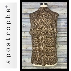 Just In! NWT Apostrophe Leopard Shell/Tank, Sz